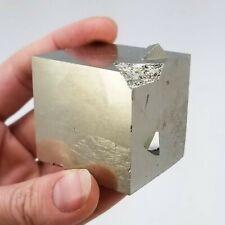 Pyrite, Large Cube, 3.5cm³, from the Victoria Mine in Navajún, La Rioja, Spain