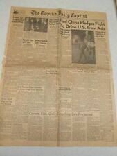 NOVEMBER 5,1950 TOPEKA DAILY CAPITAL NEWSPAPER ON  WORLD NEWS