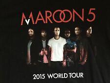 Maroon 5 2015 World Tour Concert Black Graphic T-Shirt - Size Men'S 2Xl (Xxl)