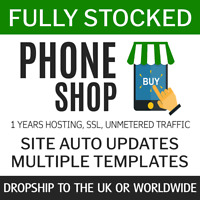 Dropship Mobile phones UK + World | Fully Stocked eCommerce Store 1year service