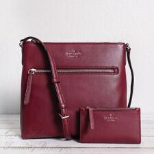 NWT Kate Spade Jackson Top Zip Leather Crossbody & Bifold Wallet  in Cherrywood