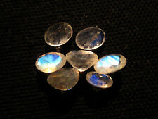 8.5 Ct 7 Pcs Fire Play Rainbow Moonstone Faceted Oval Cabochon Size 6X8 MM RMC44