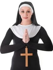 Monja Kit tocado & Collar Damas religioso Fancy Dress Costume Hen Noche Traje