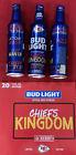 2021 NFL KANSAS CITY CHIEFS Kingdom Bud Light 16oz Aluminum Beer Bottle #503810