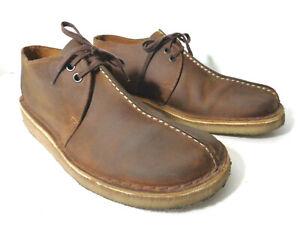 CLARKS Mens US 9.5M ORIGINALS DESERT TREK Brown Lace Up Low Top Boots Shoes
