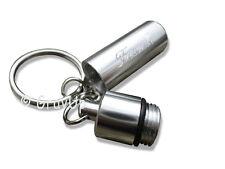 Schlüsselanhänger Pillendose Aluminium mit Diamant - Gravur