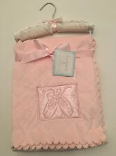 Sumersault Baby Girl Velour Blanket Pink Satin Ballet Shoes Layette