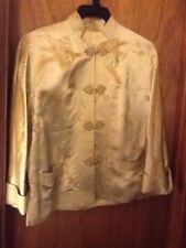 Vintage Chinese Silk Jacket Gold Toggle Buttons Size 40/ Medium