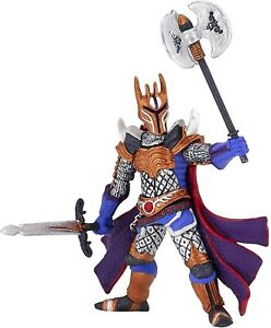 Papo Silver Knight with a Triple Battle Axe Toy Figure