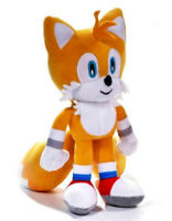 "OFFICIAL SONIC THE HEDGEHOG TAILS 12"" LARGE PLUSH SOFT TOY TEDDY NEW WITH TAGS"