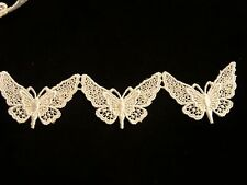 Venise Lace Butterflies in White Rayon - 10 yds for $14.99