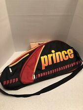 Prince Tour Team Tennis Bag Vtg Red Black