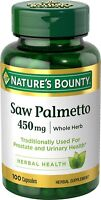 Nature's Bounty Natural Saw Palmetto 450 mg, 100 Capsules