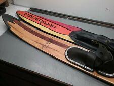 Vintage Maheraja Wooden Water Ski with Vinyl Cover