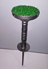 Falconry Block Stainless Steel 6 inches Perch with AstroTurf, Fully Portable