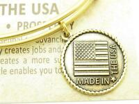 Wind and Fire Made In The USA Charm Gold Wire Stackable Bangle Bracelet New Gift