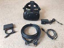 HTC Vive VR Headset, DAS (Deluxe Audio Strap and Linkbox with cables