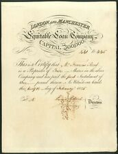 More details for london and manchester equitable loan company, 5 shares, 1825