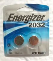 Energizer CR2032 3V Lithium Watch Batteries 2 Pack New