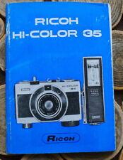 Ricoh HI-COLOR 35 Camera Instruction manual booklet - English & 3 More Languages
