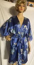 Secret Treasures Satin Kimono Robe Floral Print Large