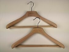 """BOGLIOLI Set of 2 Suit/ K Jacket Thick Wooden Hangers Made in Italy 42cm 17"""""""