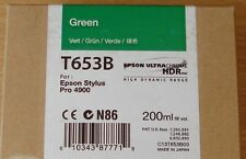 ORIGINALE Epson t653b GREEN CARTUCCIA ORIGINALE 200ml INCHIOSTRO PER PRO 4900 C13T653B00