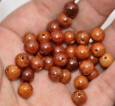 50pcs NATURAL bead Hardwood  ROSEWOOD Fragrant Wood Loose Beads 6mm 8mm w001