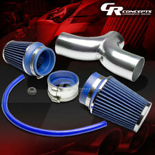 FOR DODGE SUV/PICKUP TRUCK 3.7/4.7 V8 SHORT RAM DUAL INTAKE PIPE+BLUE AIR FILTER