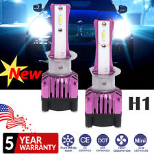 2x H1 Slim LED Headlight Kit 120000LM High Beam or Low Beam 6000K vs Xenon HID