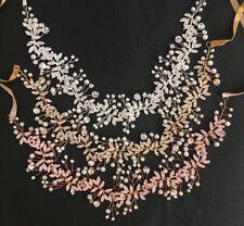 Bridal Hair Jewellery, Head Piece, Hair Band,  Gold And Rhinestones, Pearls