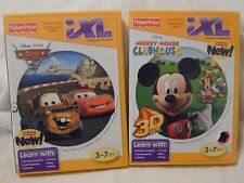 FISHER PRICE IXL LEARNING SYSTEM MICKEY MOUSE CLUBHOUSE & DISNEY PIXAR CARS EC!