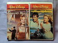 Walt Disney Film Classics Hayley Mills VHS Lot The Moon-Spinners & Summer Magic