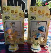 New Listing2-Precious Moments Figurines Winters Song, Autumns Praise Carousels Christmas