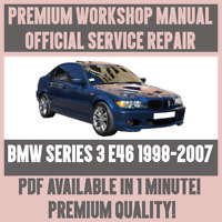 *WORKSHOP MANUAL SERVICE & REPAIR GUIDE for BMW 3 SERIES E46 1998-2007