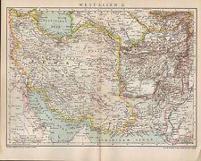 Landkarte map 1901: WEST-ASIEN. II. Persien Afghanistan Russland Pakistan Irak