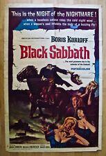 BORIS KARLOFF~BLACK SABBATH~Rare Original 1963 One Sheet Movie Poster~Horror