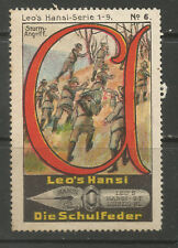 ALLEMAGNE/Leipzig Leo's HANSI schulfeder Publicité TIMBRE/LABEL (Boy Scouts #6)