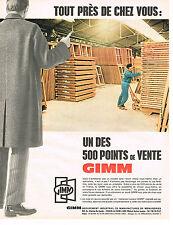 PUBLICITE ADVERTISING 025  1967  POINT DE VENTE des menuiseries GIMM  fenetres