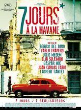 Affiche 120x160cm 7 JOURS A LA HAVANE (2012) Benicio Del Toro, Kusturica NEUVE #
