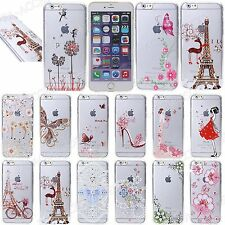 Case For iPhone 6s/6, 5s/5, SE Fashionable Bling Design Thin TPU Gel Cover