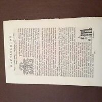 a4b ephemera article clan tartan 2 pages macnaughton scotland