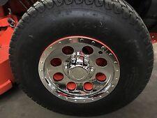 "(2) 12"" Chrome Mower Wheel Hub Cap Rim Covers SHARP!! Phoenix USA QT12CHB"