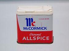 Vintage Kitchen Display McCormick Spice Tin Ground Allspice  1 1/8  Oz