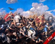 EPIC BATTLE OF ALEXANDER THE GREAT VS DARIUS PAINTING WAR ART REAL CANVAS PRINT
