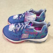 """SKECHERS  """"Air Jump Around"""" Youth Girl's Blue/Multi-Color Sneakers~~Size 12"""