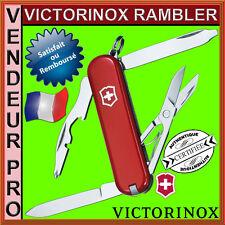 COUTEAU SUISSE VICTORINOX RAMBLER 10 OUTILS ROUGE NEUF PRO/FRANCAIS 0.6363