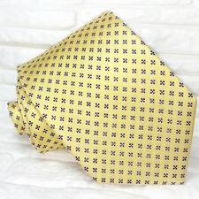 Cravatta gialla e blue Nuova 100% seta Made in Italy Morgana brand