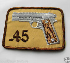 Colt 45 Gun Embroidered Patch 3 1/2 inches