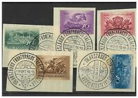 Hungary 1936 Recapture of Budapest Set/5 Stamps W/ Special First Day Cancel 13-1